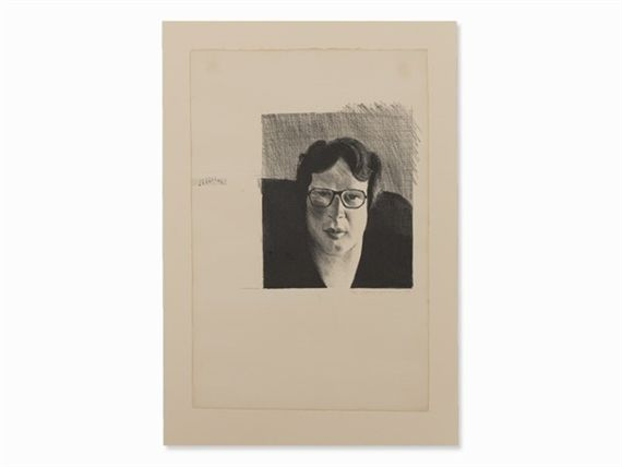 Artwork by David Hockney, Michael Crichton, Made of Lithograph on wove paper