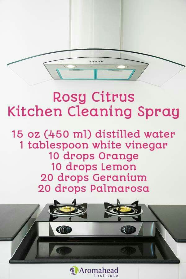Rosy Citrus Kitchen Cleaning Spray By Aromahead Institute
