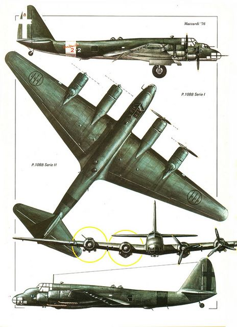 Piaggio P.108 color 3V by kitchener.lord, via Flickr