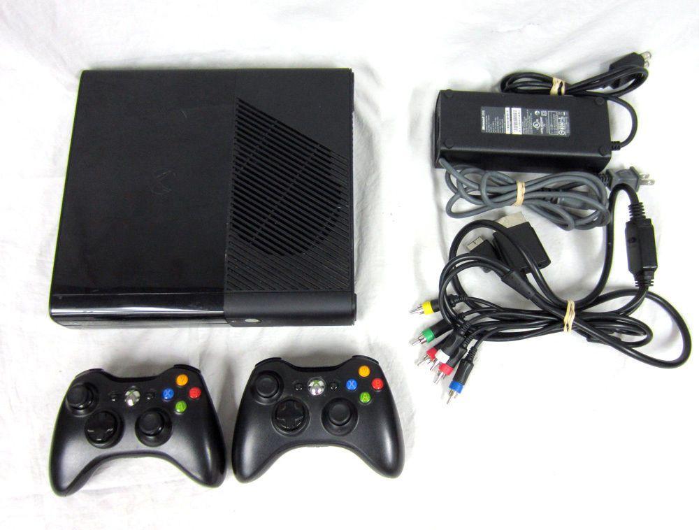 Microsoft xBox 360 E 1538 Black Video Game System Console
