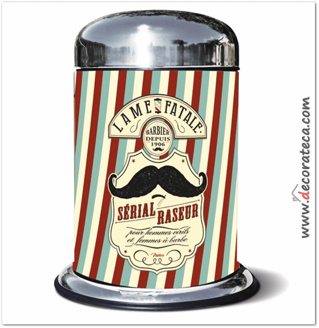 Original y divert disimo cubo de basura papelera de tama o peque o 5 litros moustache - Cubos de basura originales ...