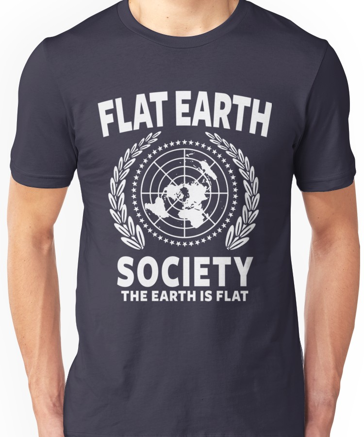 Flat Earth Society T-Shirt  Truth Movement Theory Conspiracy Top Tee Clothing