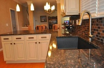 Tan Brown Granite With Oak Cabinets White Cabinets And Tan Brown