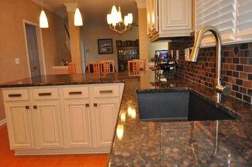 Tan Brown Granite With Oak Cabinets White Cabinets And Tan Brown Granite With Graphit Tan Brown Granite Brown Granite Countertops Granite Countertops Kitchen