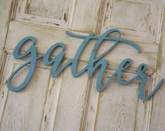 Word Signs Wall Decor Gather Wood Sign Custom Made Home Decor Kitchen Sign Gallery