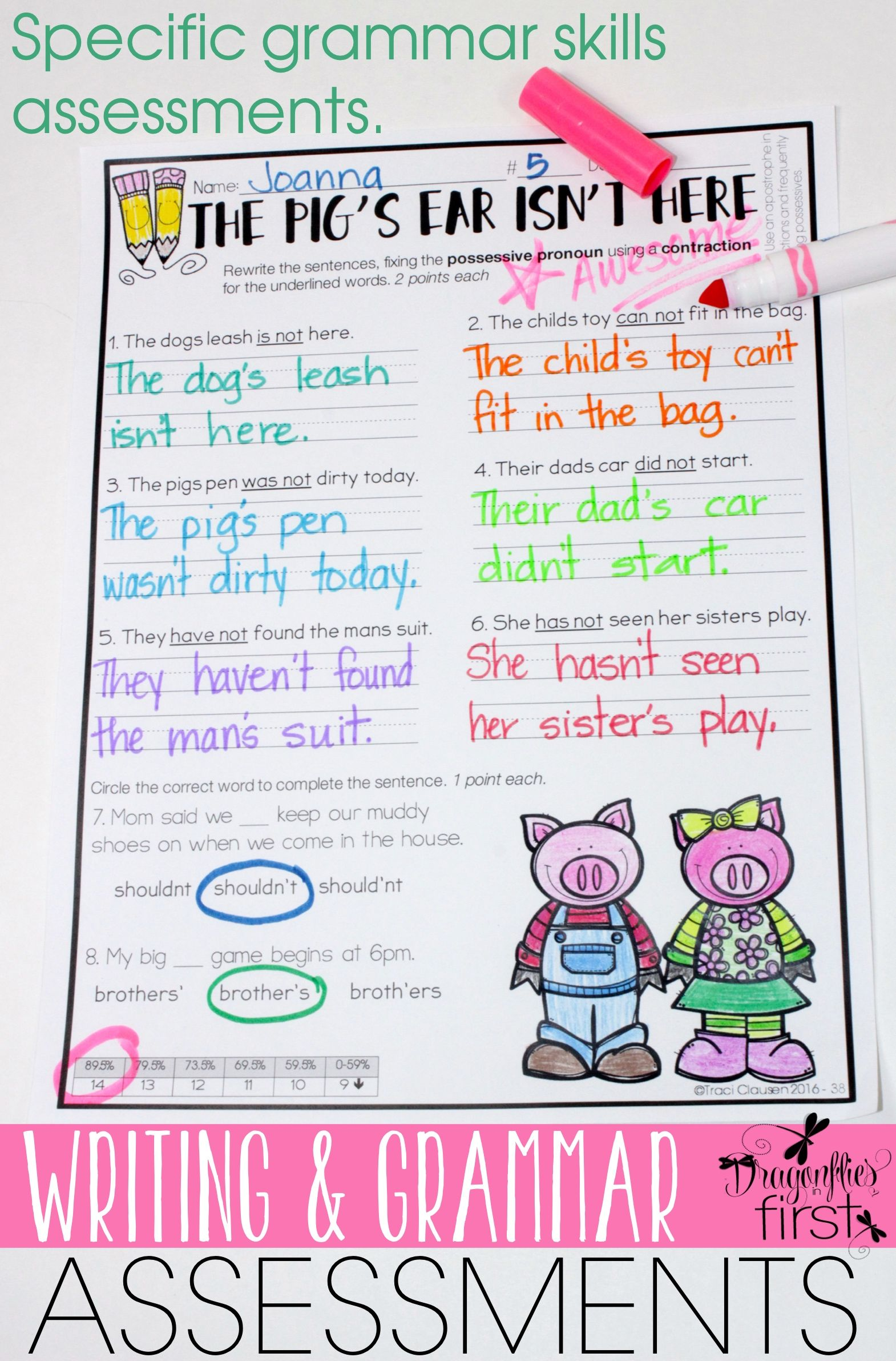 Simple Solutions For Grading Writing And Grammar