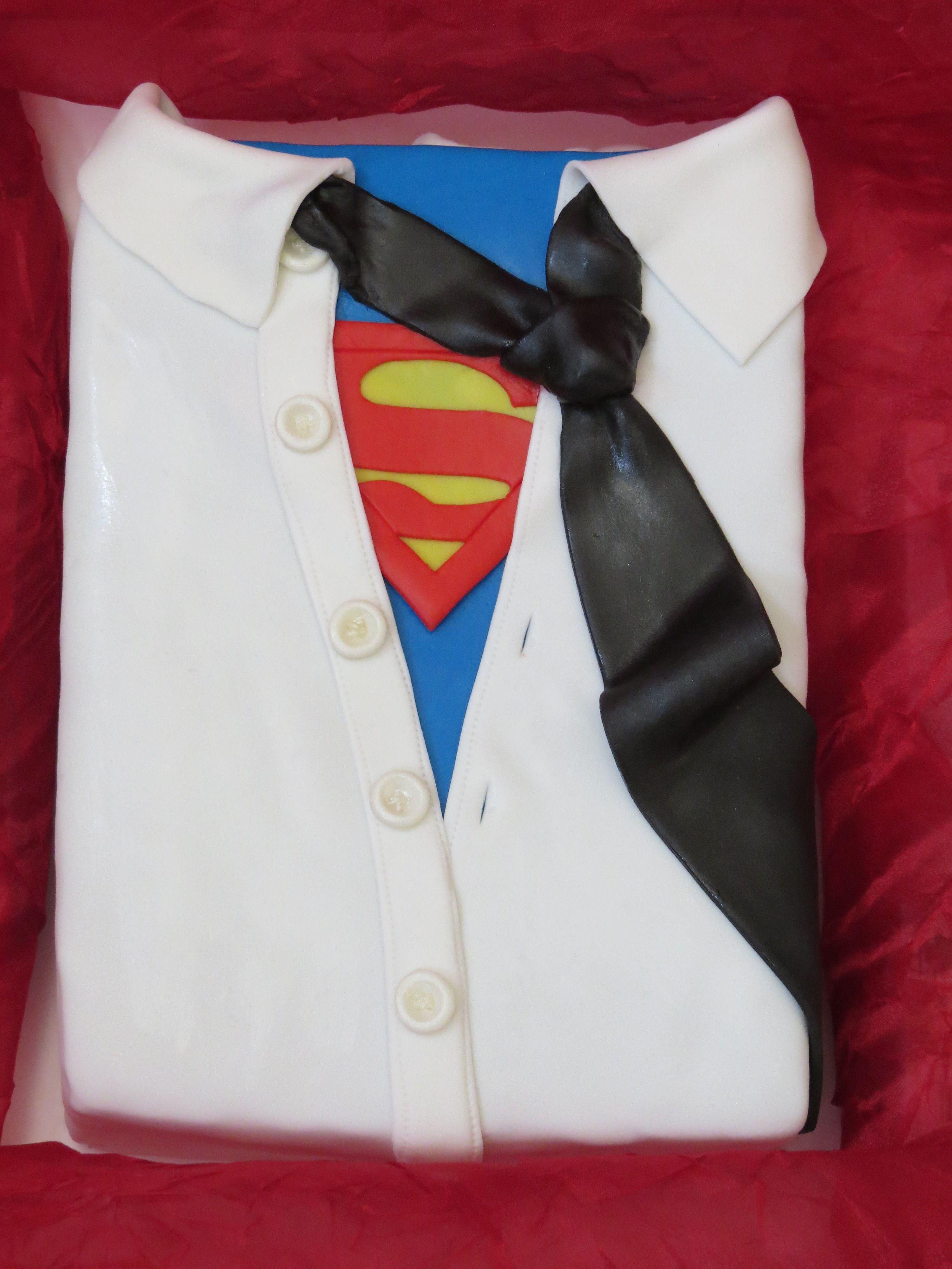 Superman Shirt And Tie Birthday Cake In 2019 Birthday