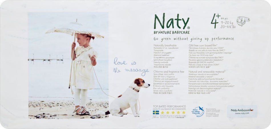 Naty By Nature Babycare Nappies Size 4 Maxi Plus 9 20kg 44