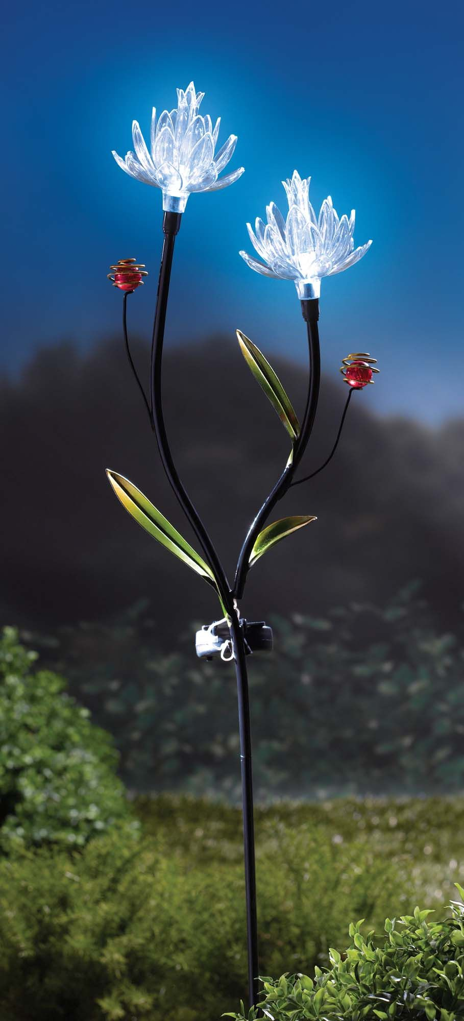 create a whimsical atmosphere in your outdoor space with this lightup garden stake