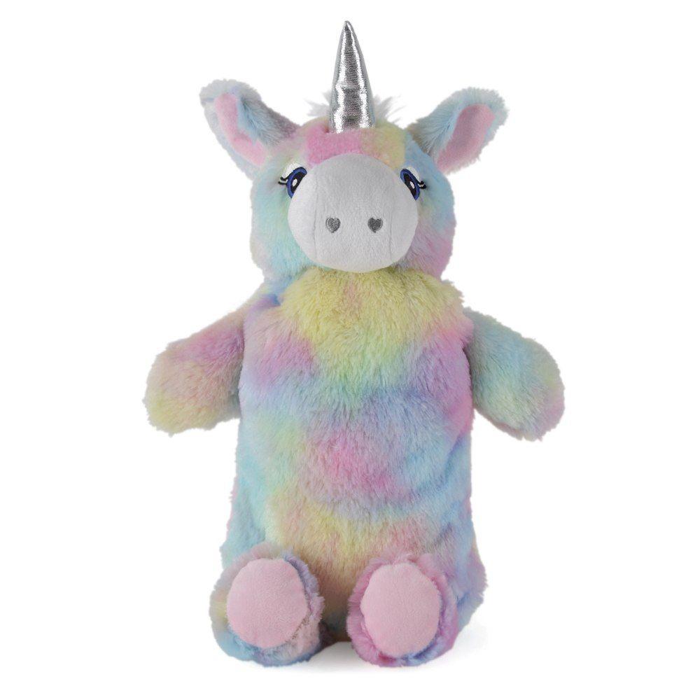 Girls 3D White Rainbow Mane Unicorn Plush Fleece Novelty Slippers In 4 UK Sizes