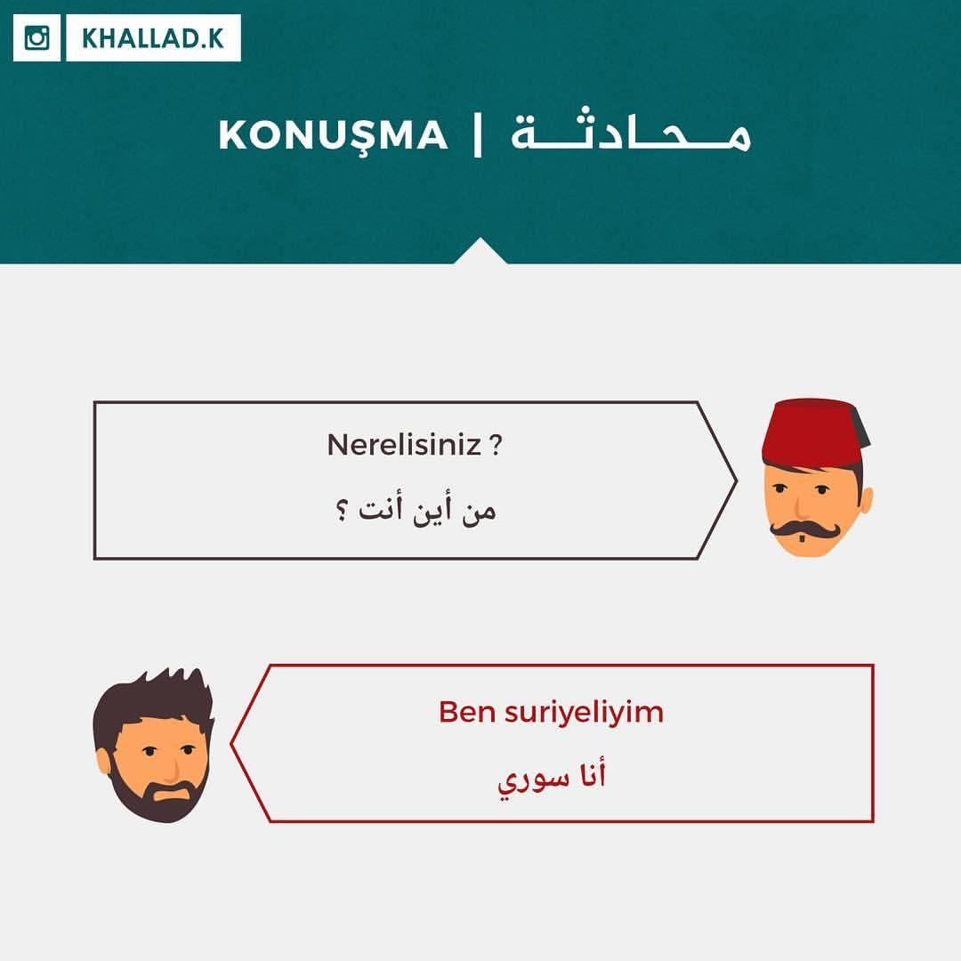 تعليم اللغة التركية On Instagram محادثة للمبتدئين Yeni Baslayanlar Icin Nerelisiniz من اين انت نيريليسي Learn Turkish Instagram Posts Homeschool