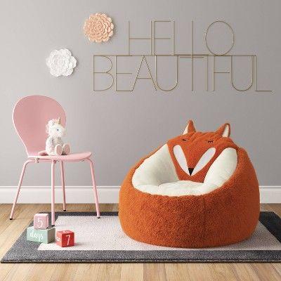 Fantastic Character Bean Bag Chair Orange Fox Pillowfort In 2019 Machost Co Dining Chair Design Ideas Machostcouk