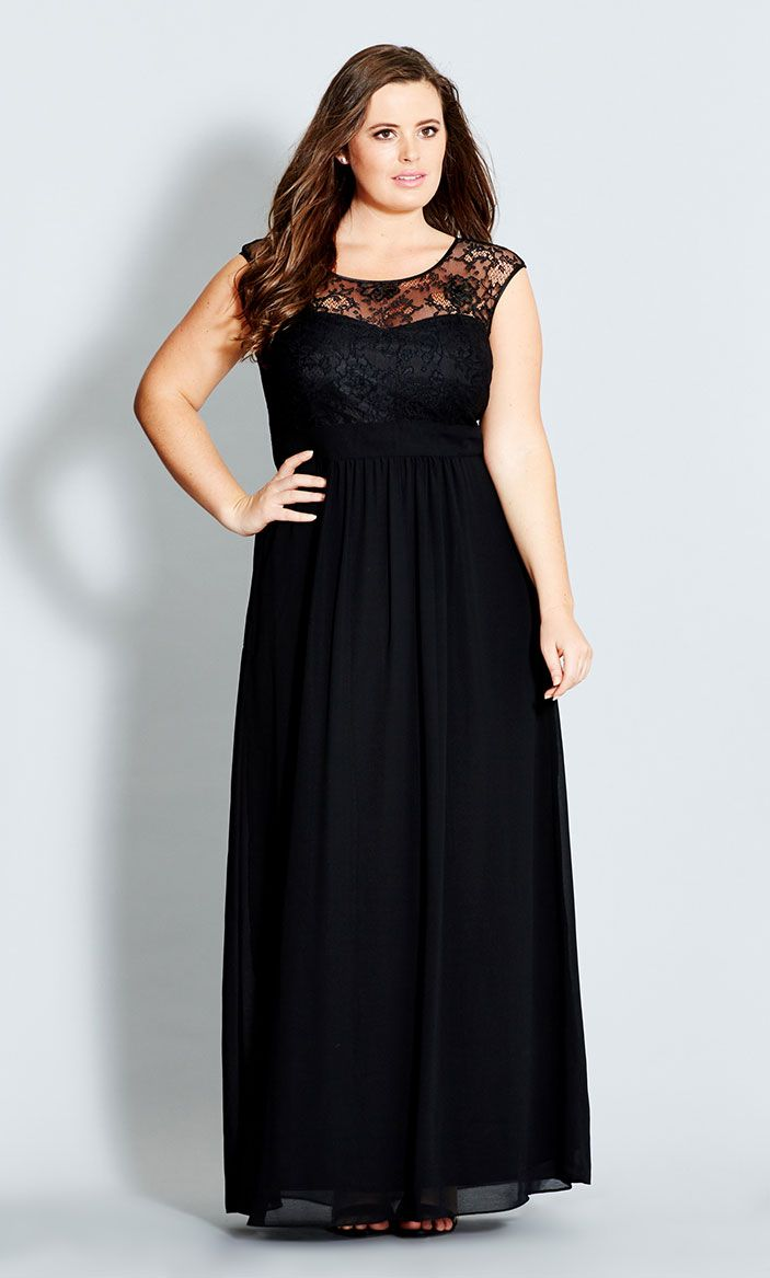 City chic lace goddess maxi dress womenus plus size fashion