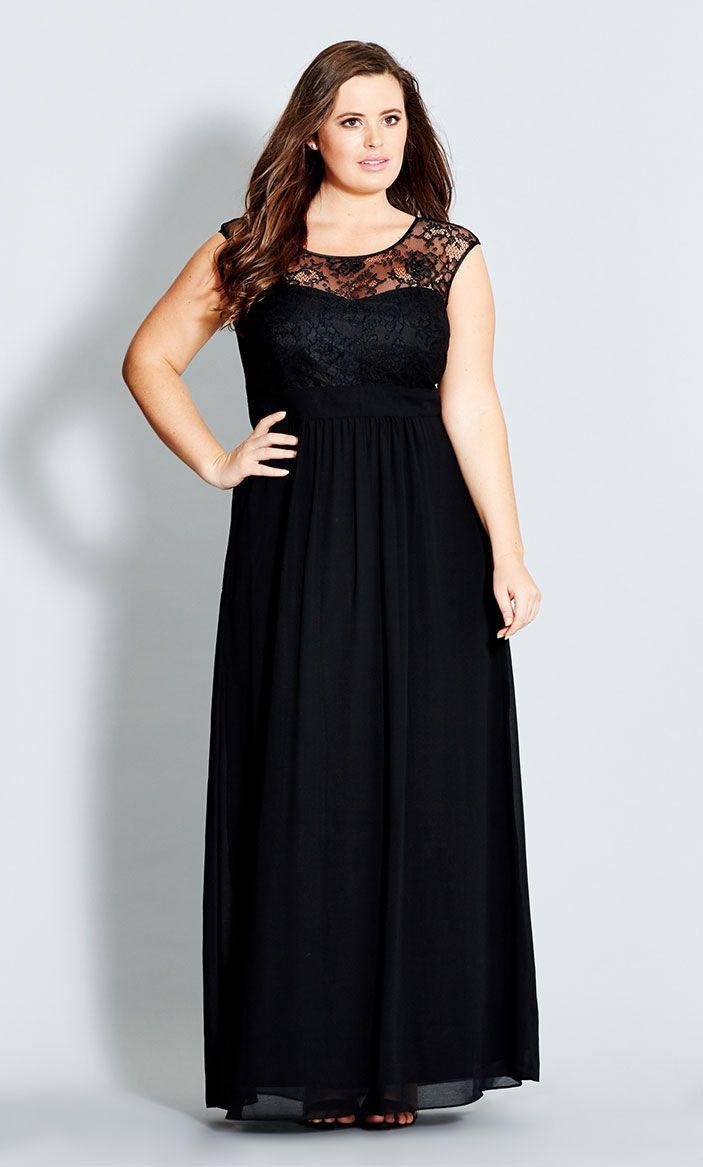 City chic lace goddess maxi dress womenus plus size fashion
