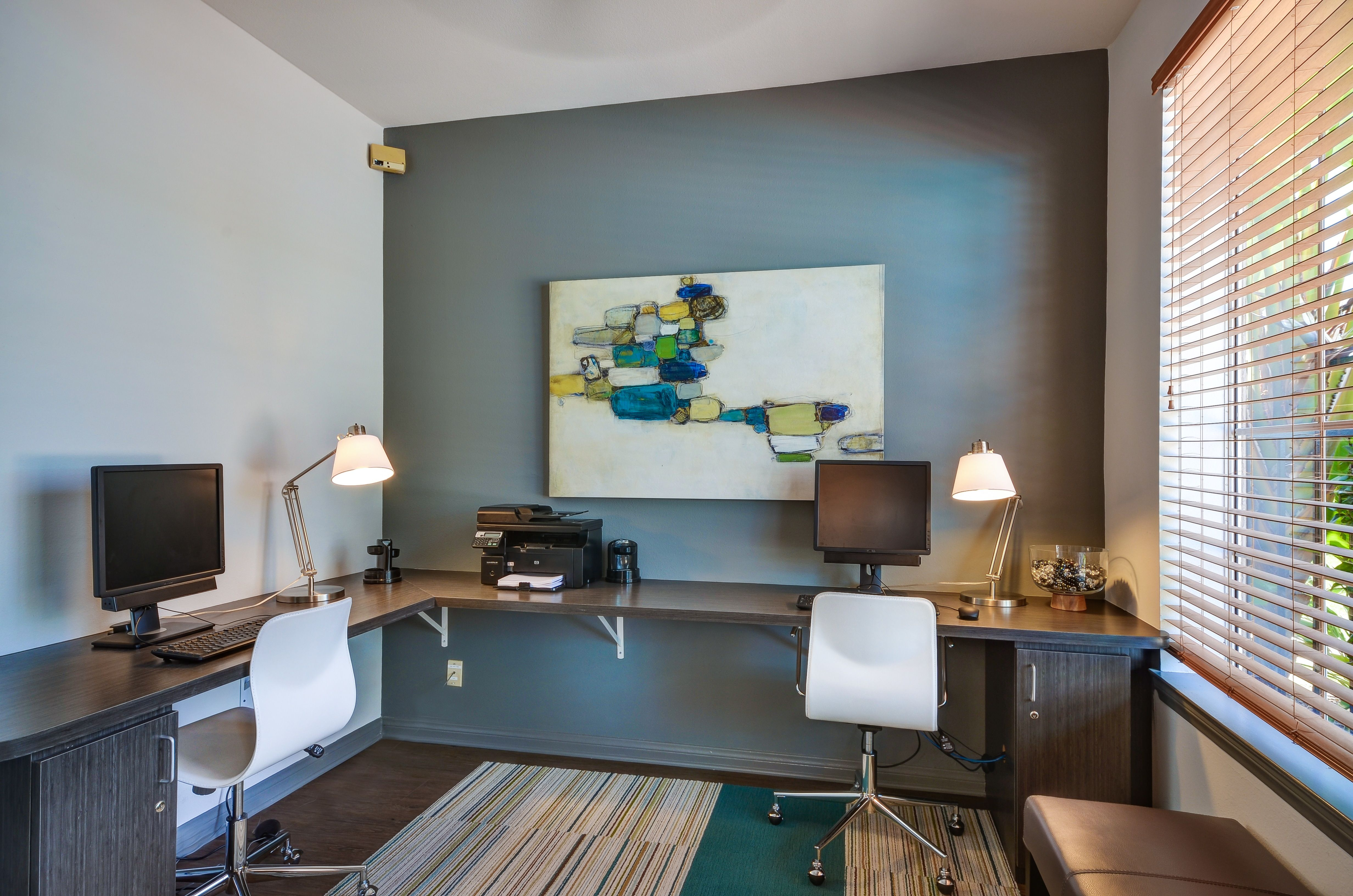 Clean Modern Office Space The Office Accent Wall Does Make It