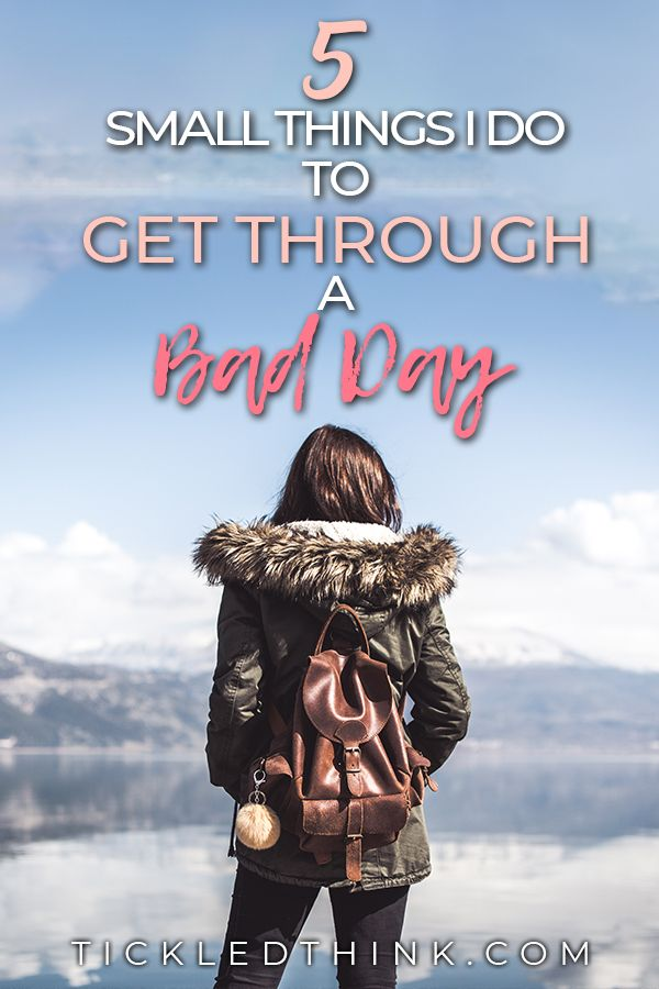 5 Small things I do to overcome a Bad Day | Mental health ...