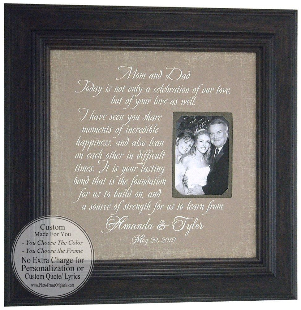 Wedding Frame Parents Gift MOM DAD Mother Of The Bride Father Personalized Picture 16 X