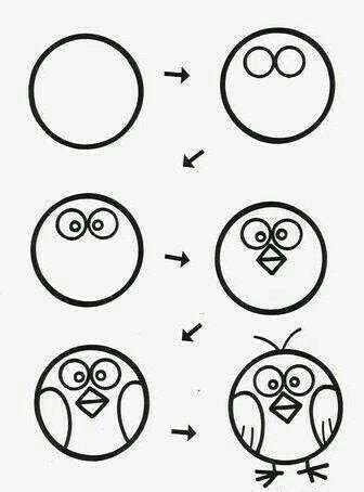 Aprende A Dibujar Un Pajaro Facil Y Sencillo Cole Aprende Cole Dibujar Facil Pajaro Art Drawings For Kids Easy Drawings For Kids Drawing For Kids