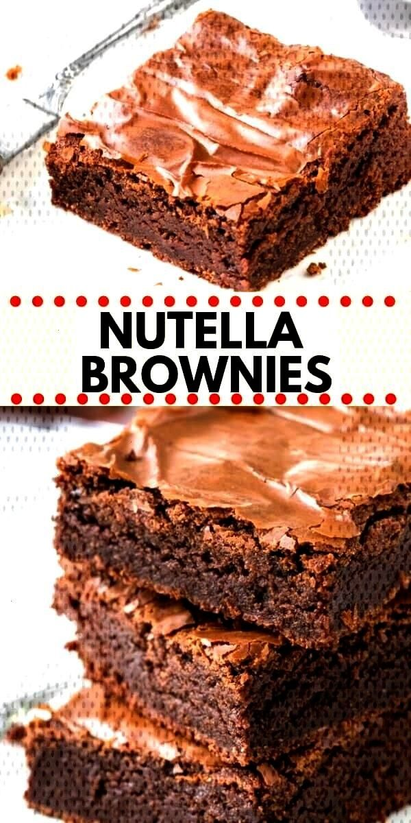 easy Nutella Brownies are fudgy, gooey and perfectly chocolate-y. They have a delicious chocoThese