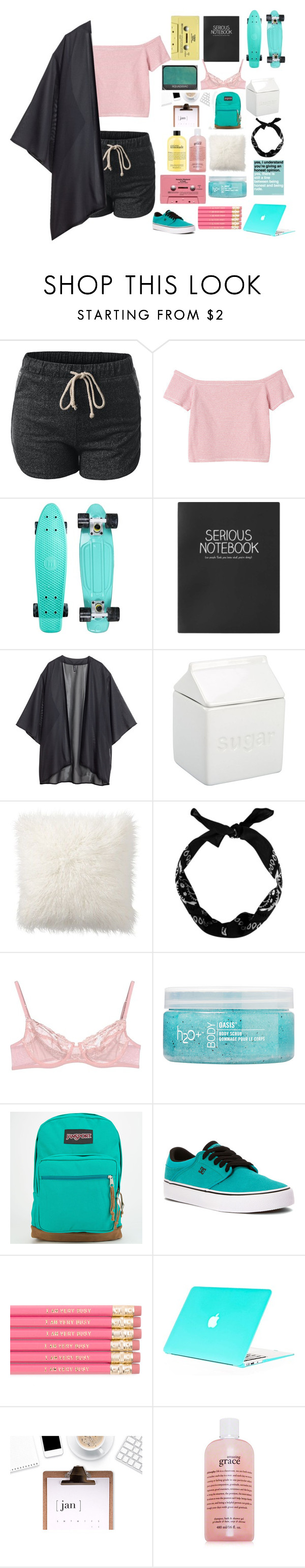 """Is it too late to say sorry?"" by bossbby11 ❤ liked on Polyvore featuring Monki, Topshop, H&M, BIA Cordon Bleu, Pottery Barn, La Perla, H2O+, JanSport, DC Shoes and philosophy"