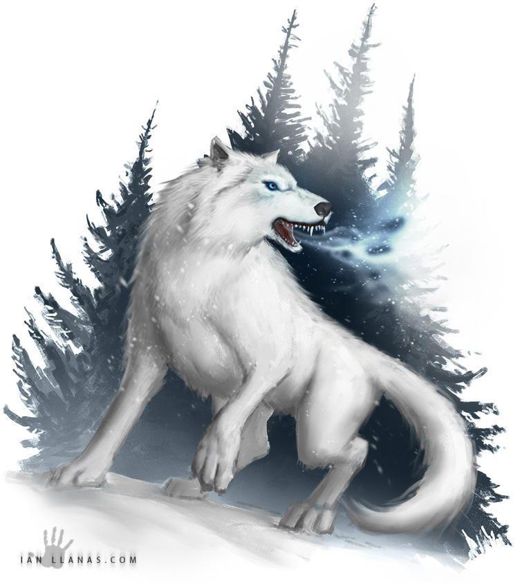 Winter Wolf By Ianllanas Animal Art In 2019 Winter Wolves Wolf