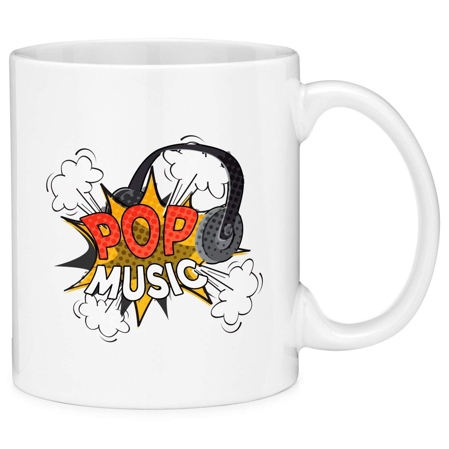 Mugvana Pop Music Comic Style Coffee Mug Cup Fun Novelty