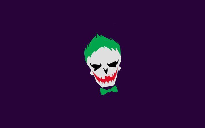 Joker 4k Violet Background