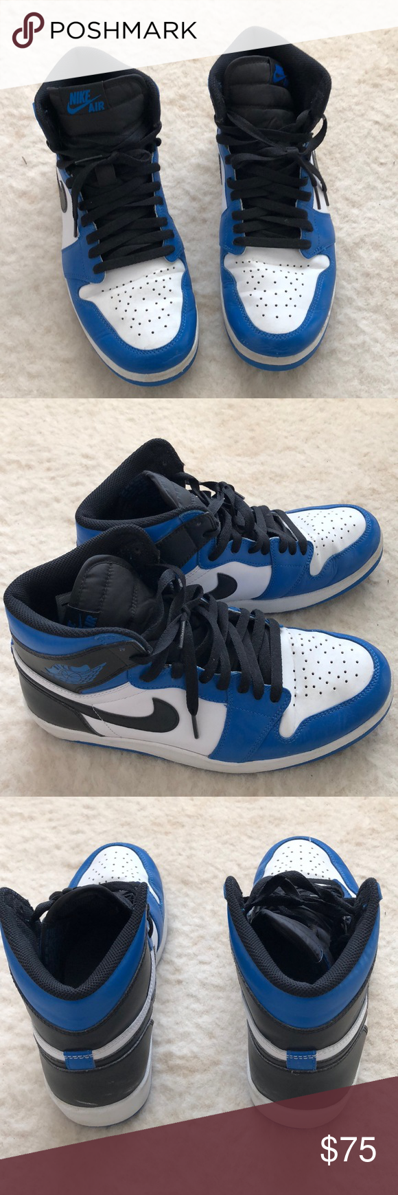 on sale 24d45 2a5f1 Nike Air Jordan 1 In good condition. Has creases and small scuffs as shown  but otherwise still good. Nike Shoes Sneakers