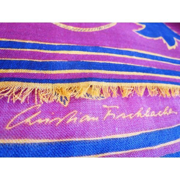 seta, scarf, sciarpa, seidentuch, Christian Fischbacher, Foulard Carré, en laine