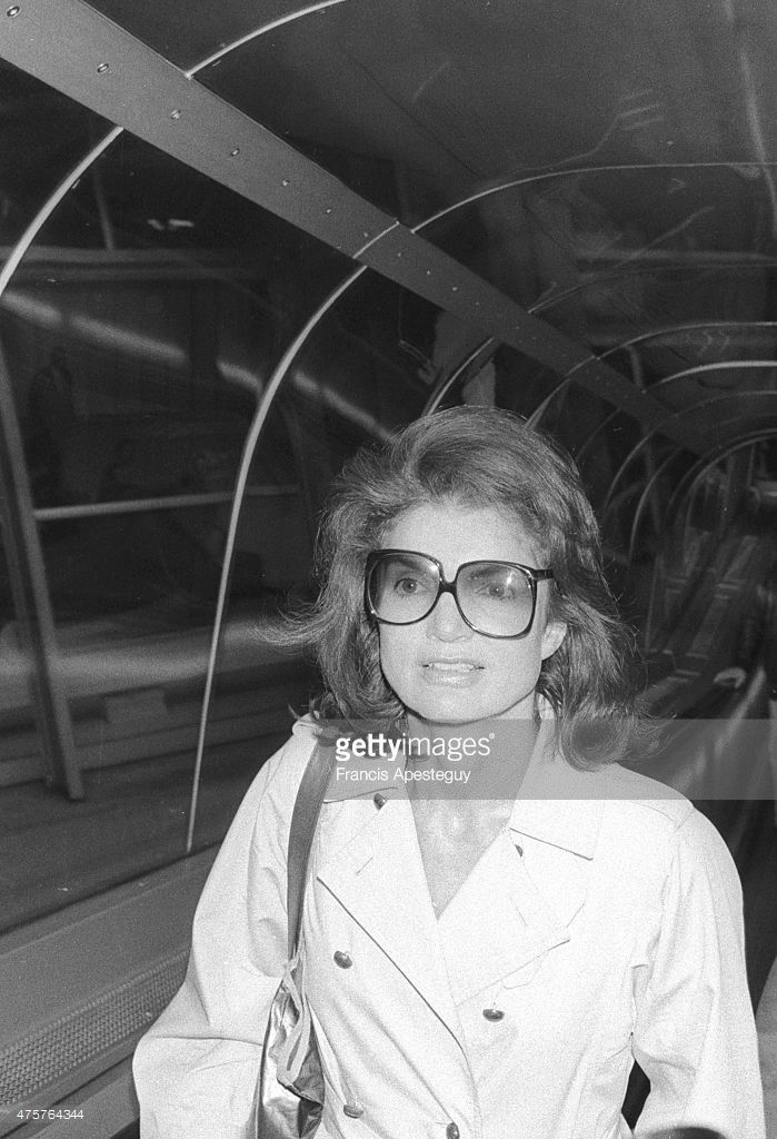 Paris, France-September 1979--Jacqueline Kennedy Onassis arrives at Roissy.