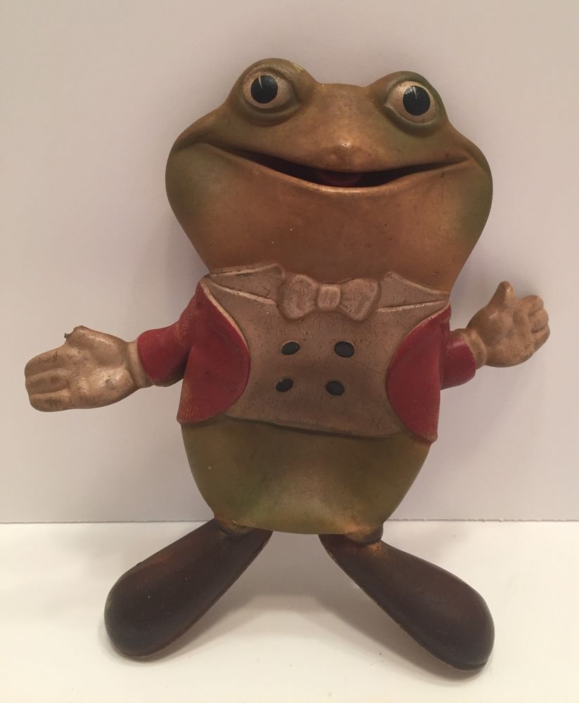 Vintage 1948 Ed McConnell Rempel FROGGY THE GREMLIN RUBBER FROG ...