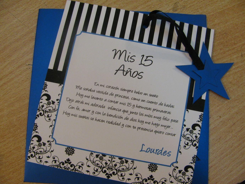 Invitaciones De 15 Años Tarjetas Quince Años Tarjeta 15