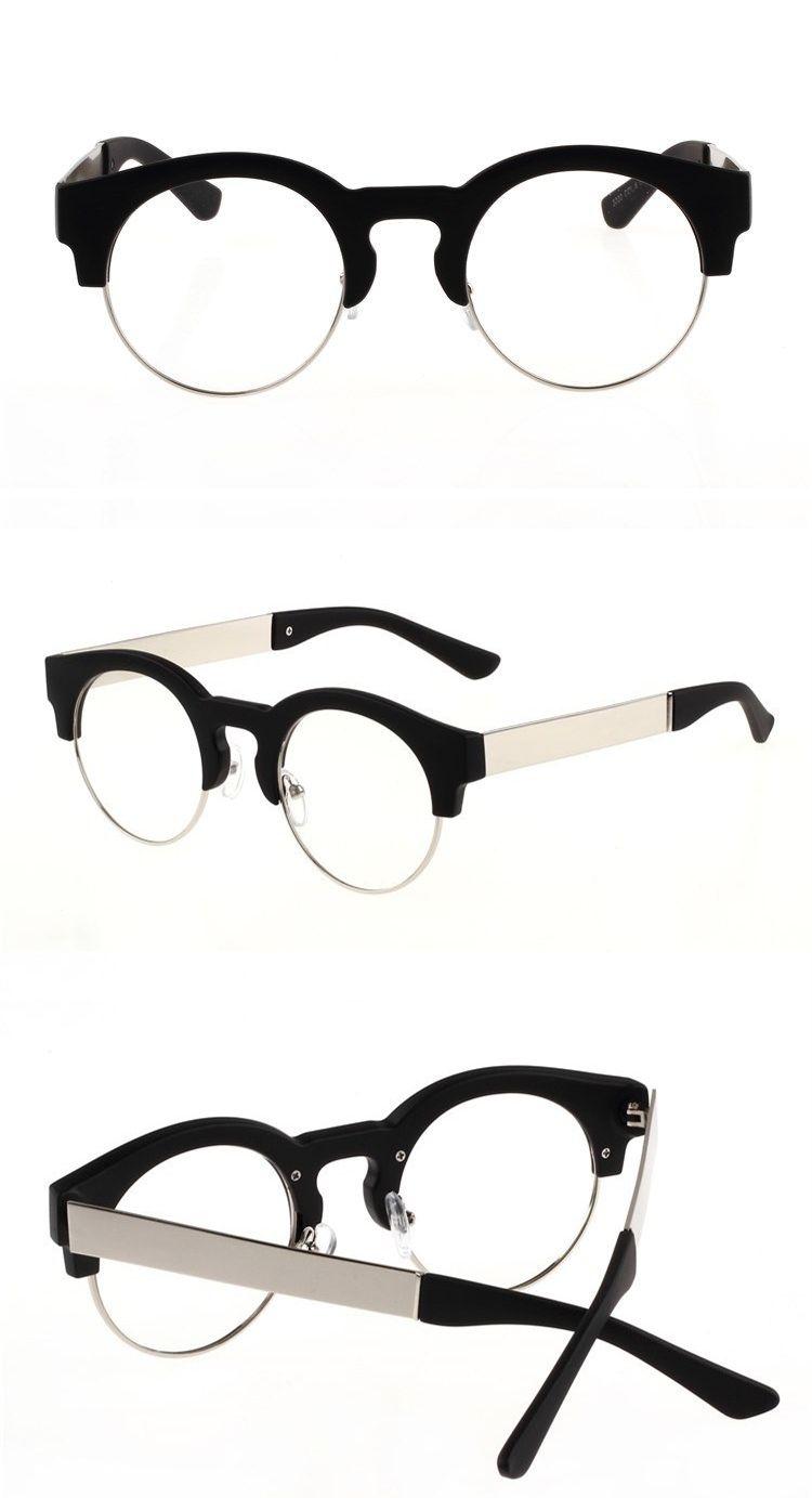 8a3cfc32a0 Retro Round Hand made Glasses Frame Eyebrow Frames Custom Made Optical  Myopia And Reading Glasses Lens