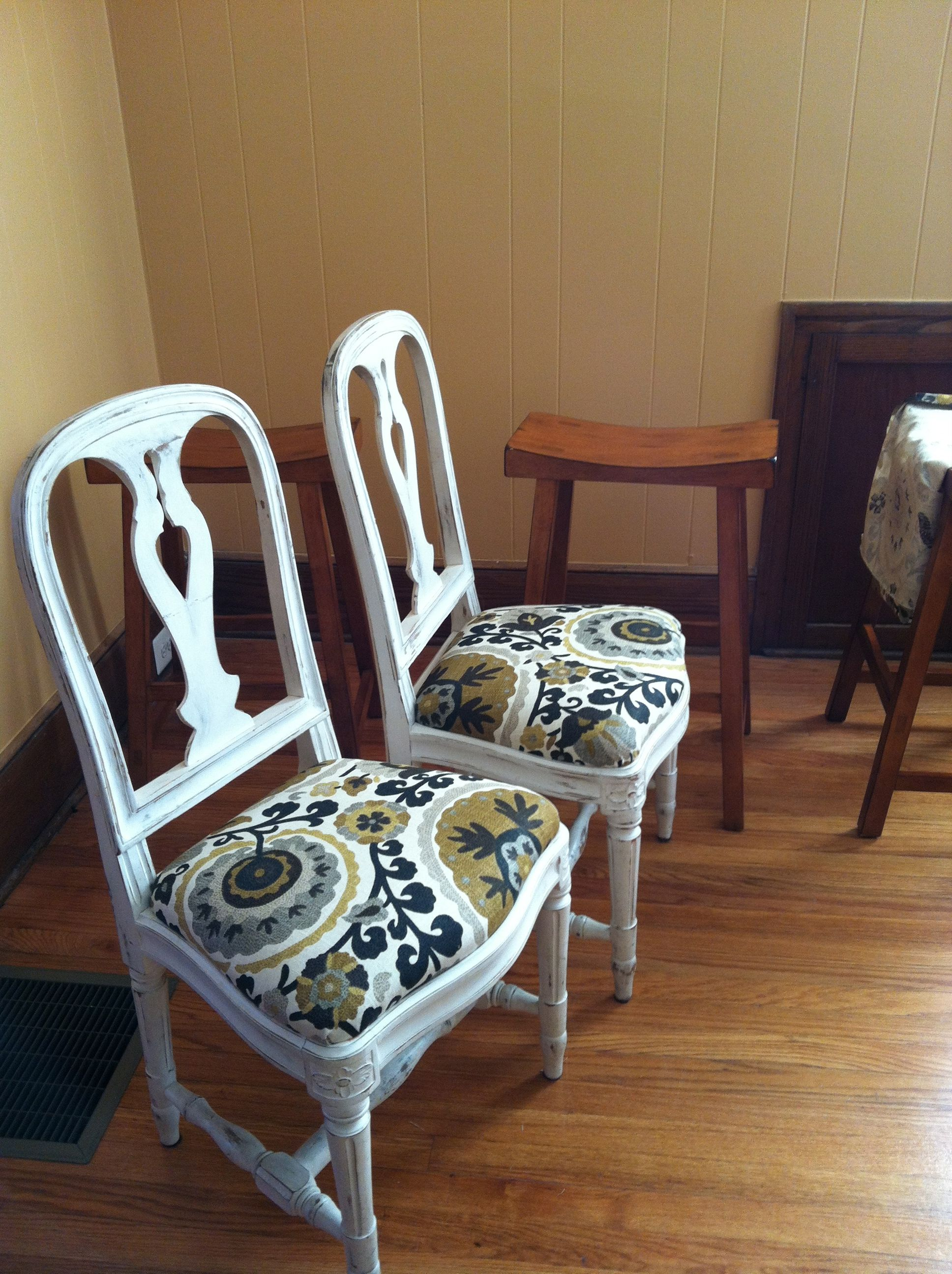 Ikea Gustavian Swedish Chairs circa 1995 that I recovered in a