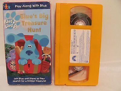 Vhs Blue S Clues Blue S Big Treasure Hunt Vhs 1999 Blues Clues Blues Treasure Hunt