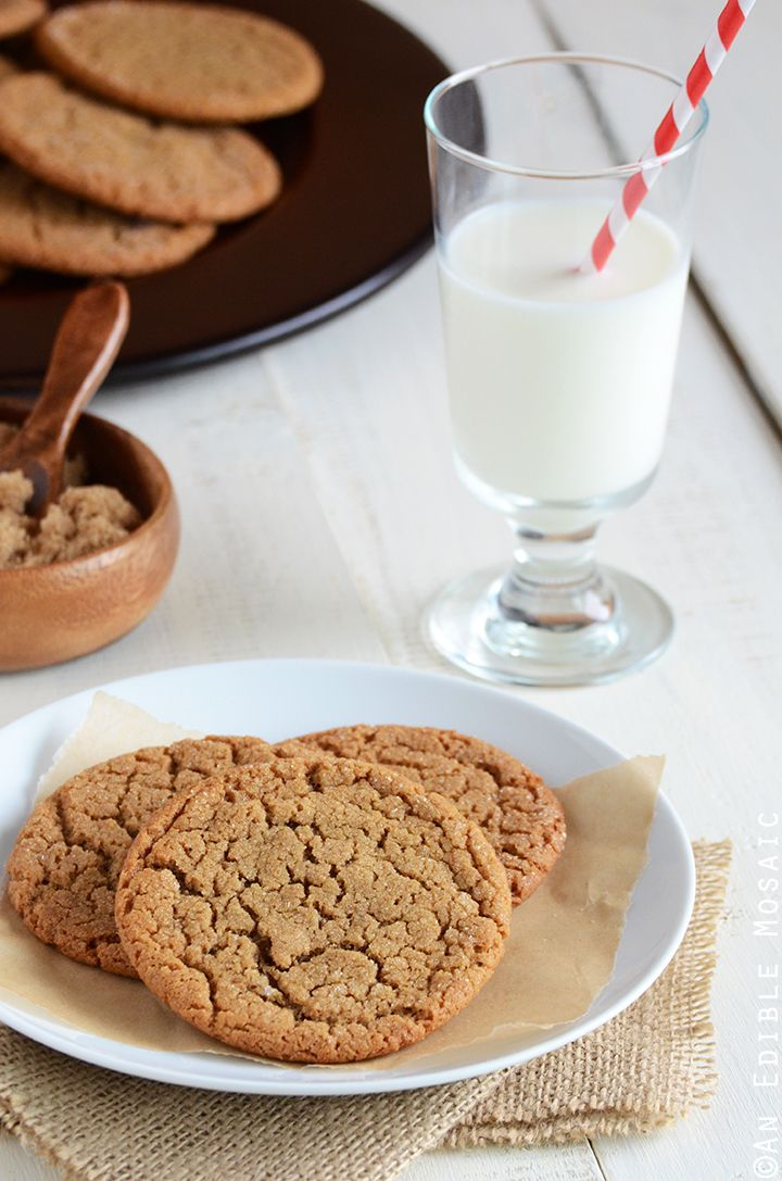 Molasses Crinkles Recipe #baking