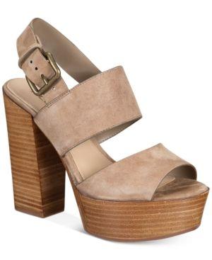 8a86e8e016 Aldo Women's Maximoa Platform Block-Heel Sandals - Tan/Beige 6.5M ...