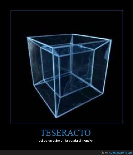 TESERACTO - asi es un cubo en la cuarta dimension