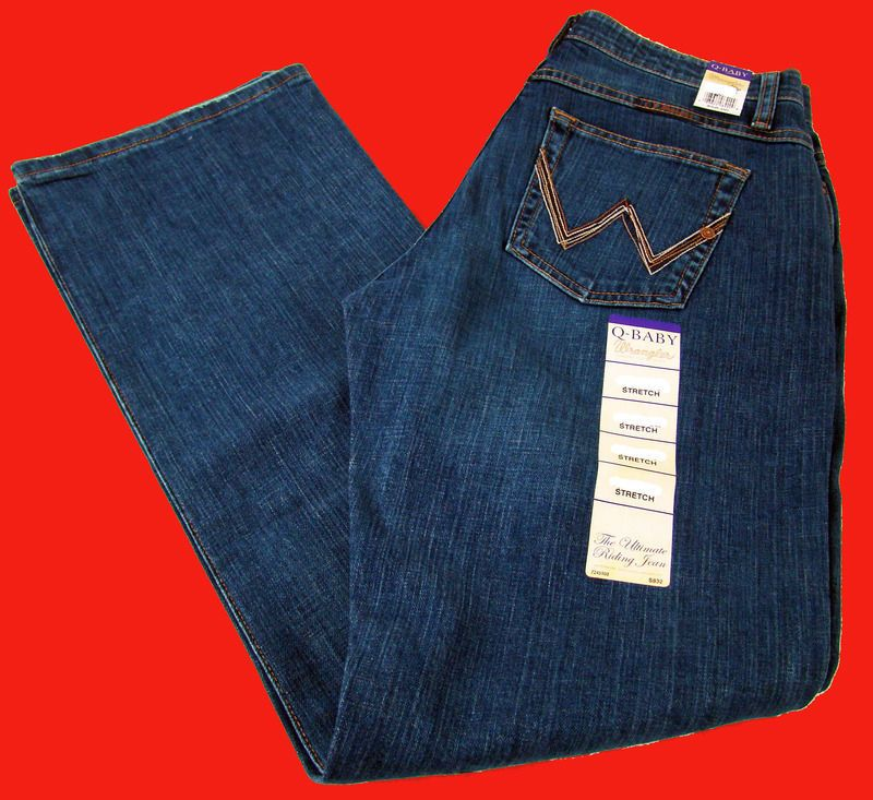 1abde6f5 Womens Wrangler Q Baby Mid Rise Boot Cut Tuff Buck Stretch Jeans Any Size # Wrangler #BootCut