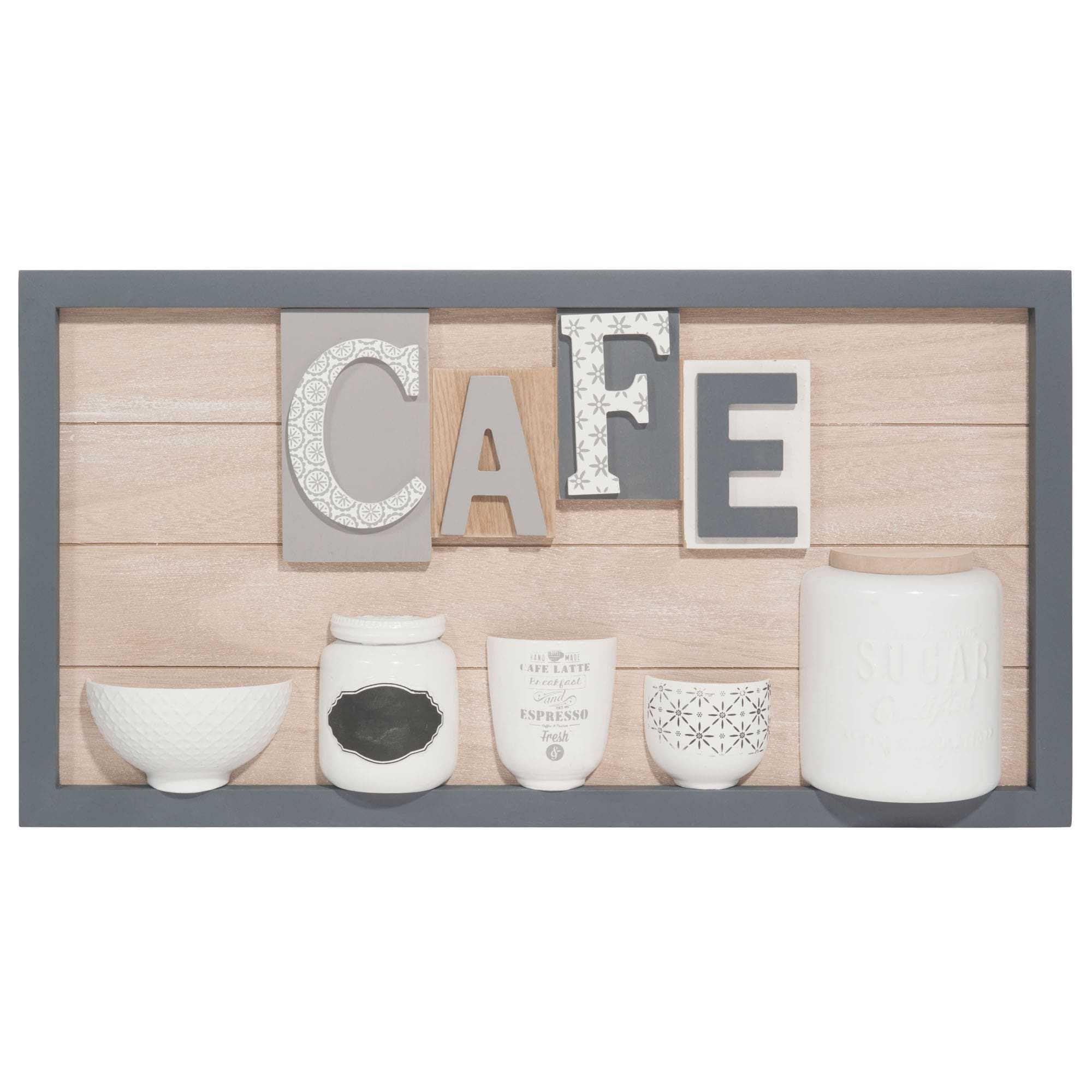 Caf Wooden Artwork 30 X 57 Cm Kitchen Pinterest Tableau En
