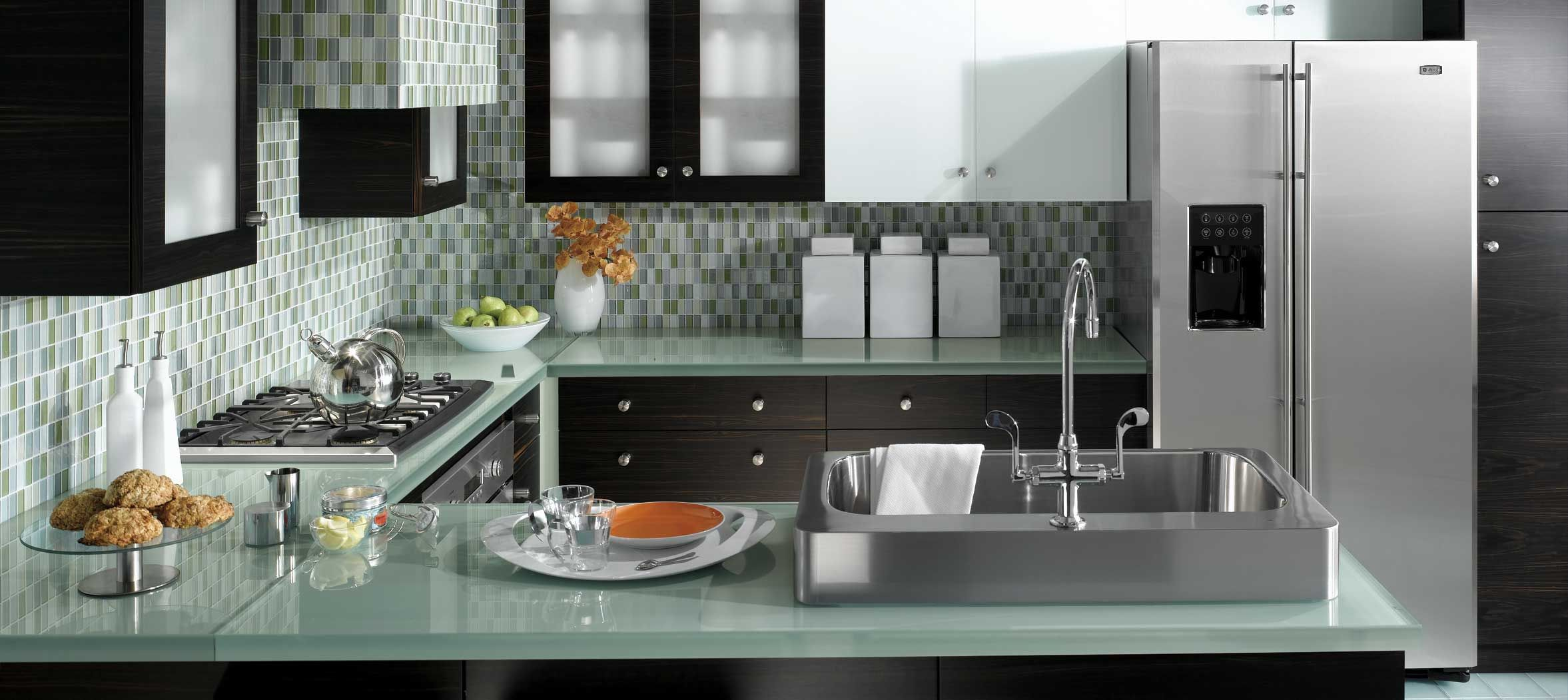 at first look this thoroughly modern glass ge monogram kitchen