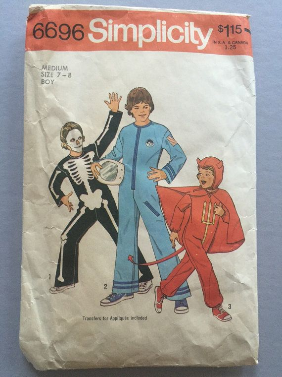 Boys Halloween Costume Sewing Pattern Skeleton By Brocantebedstuy