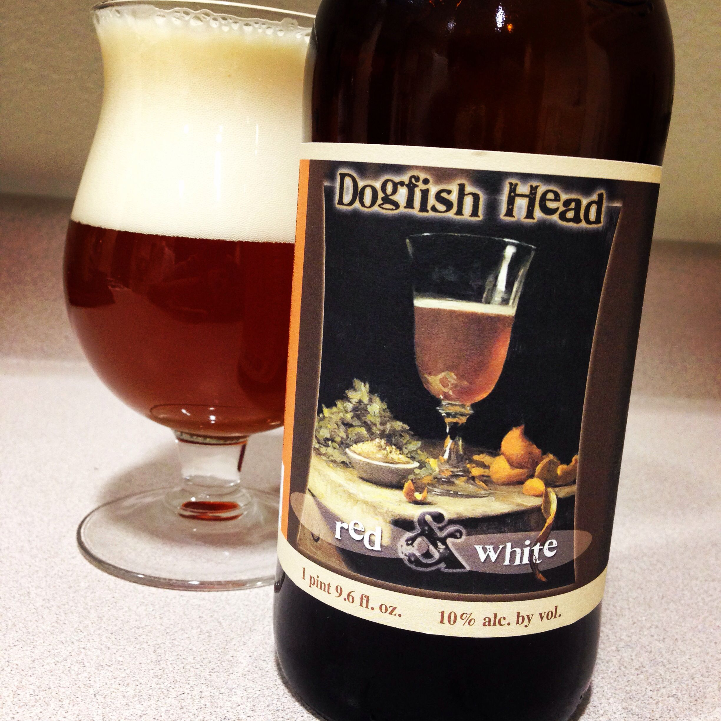 Dogfish Head Red White Wine Bottle Red And White Craft Beer