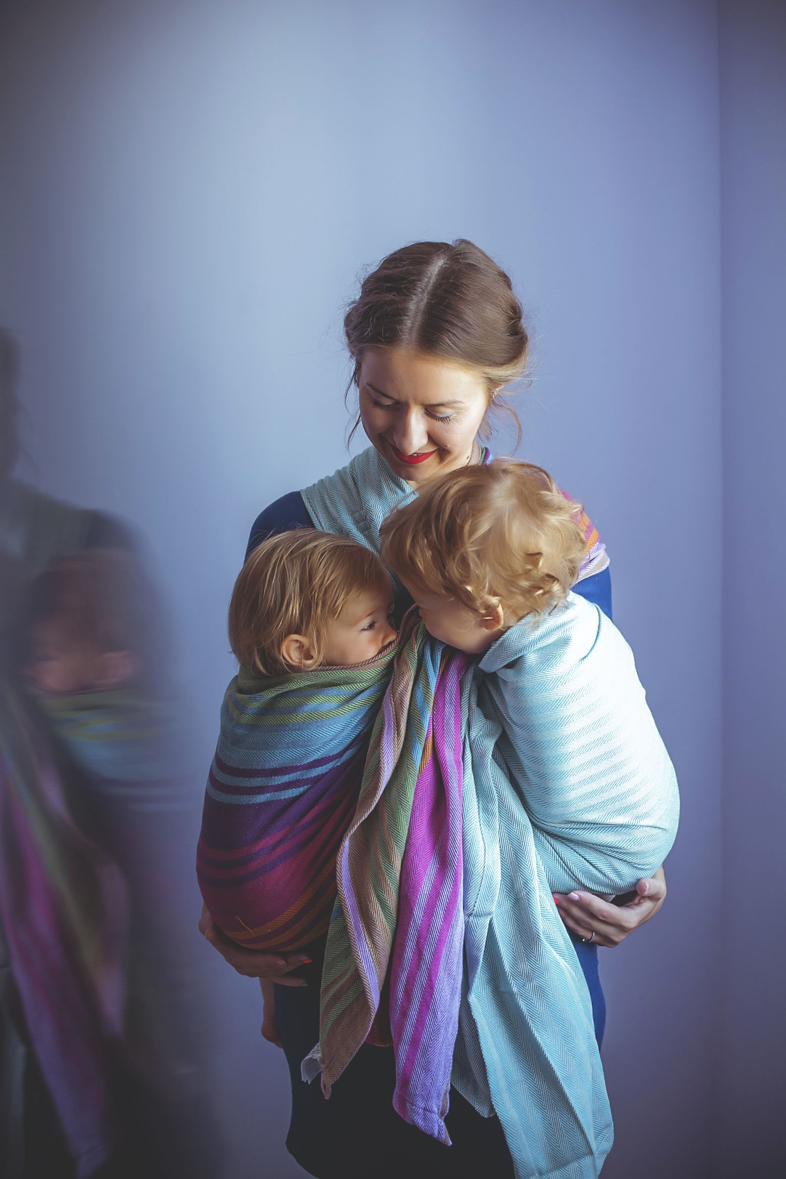 Babywearing twins Ring Sling is our favorite Baby