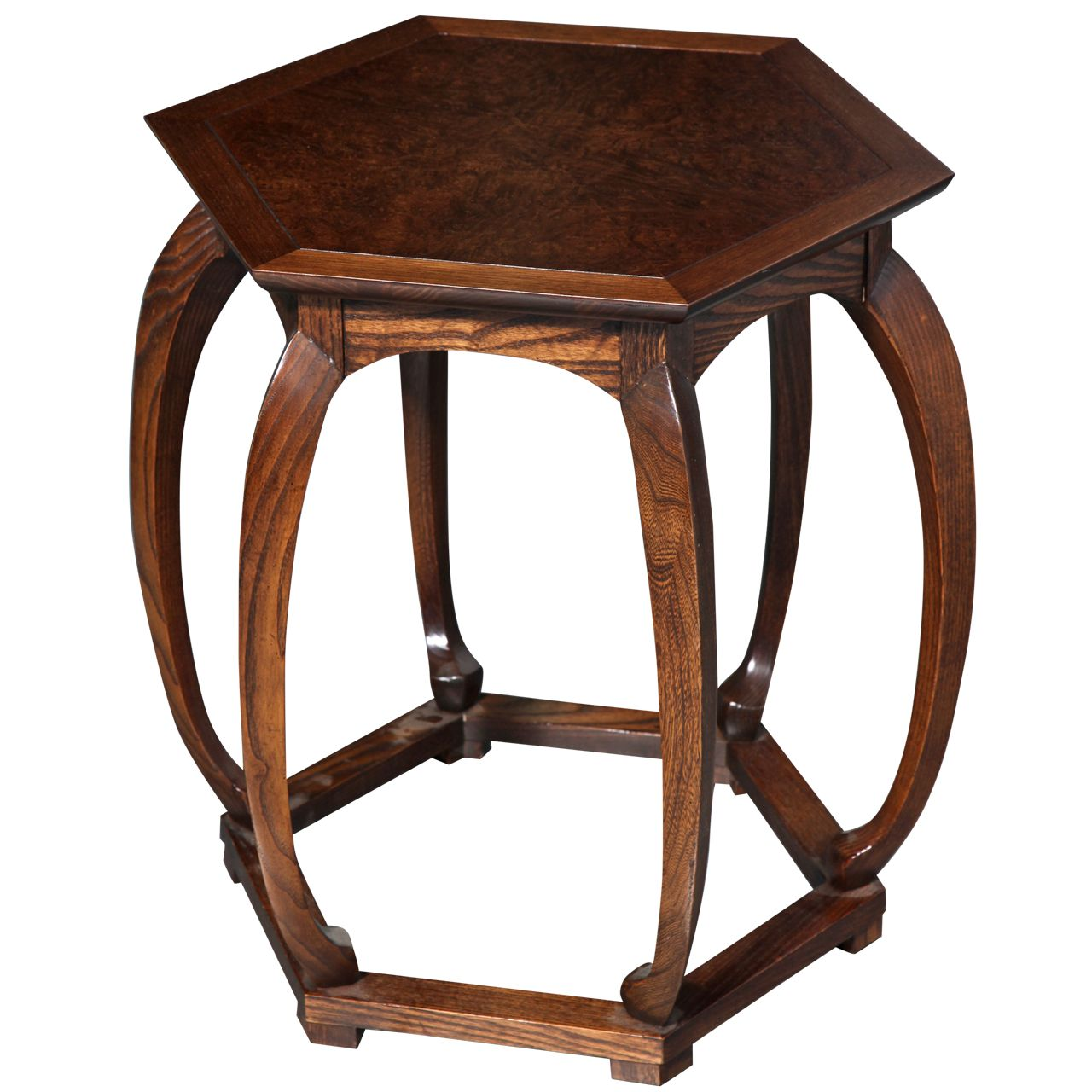 Baker Furniture Chinese Style Hexagonal Table