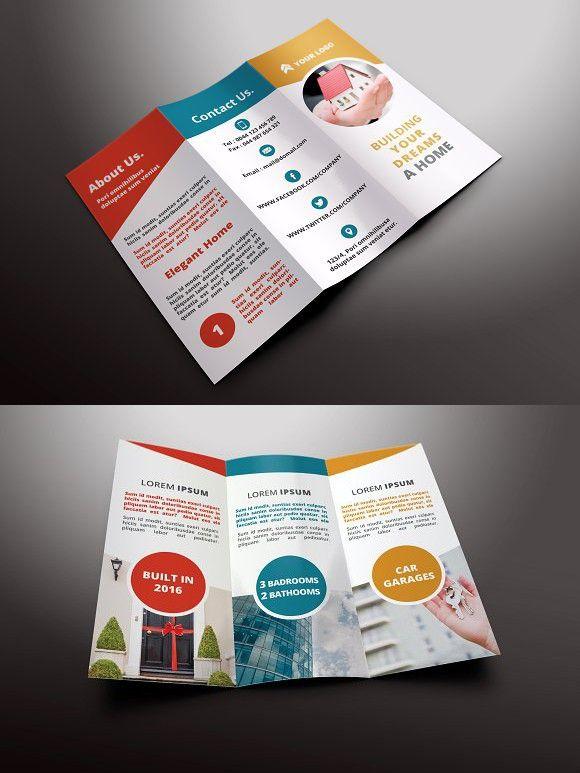 Real Estate Tri-fold Brochures - retro brochure template