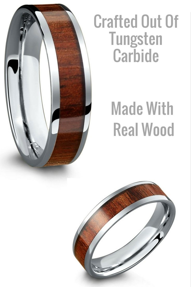 6mm Silver Tungsten Wood Wedding Band For Men This Mens Is Extremely Durable And 100 Waterproof I Finally Found A That