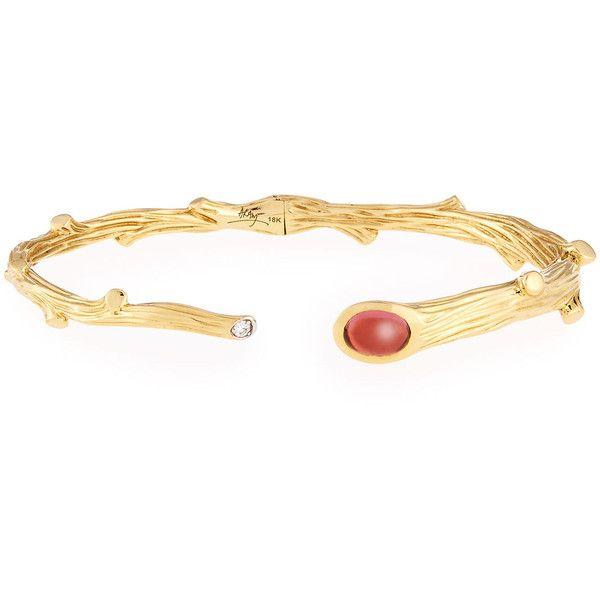 Michael Aram 18k Palm Diamond Bracelet CdXPlZ
