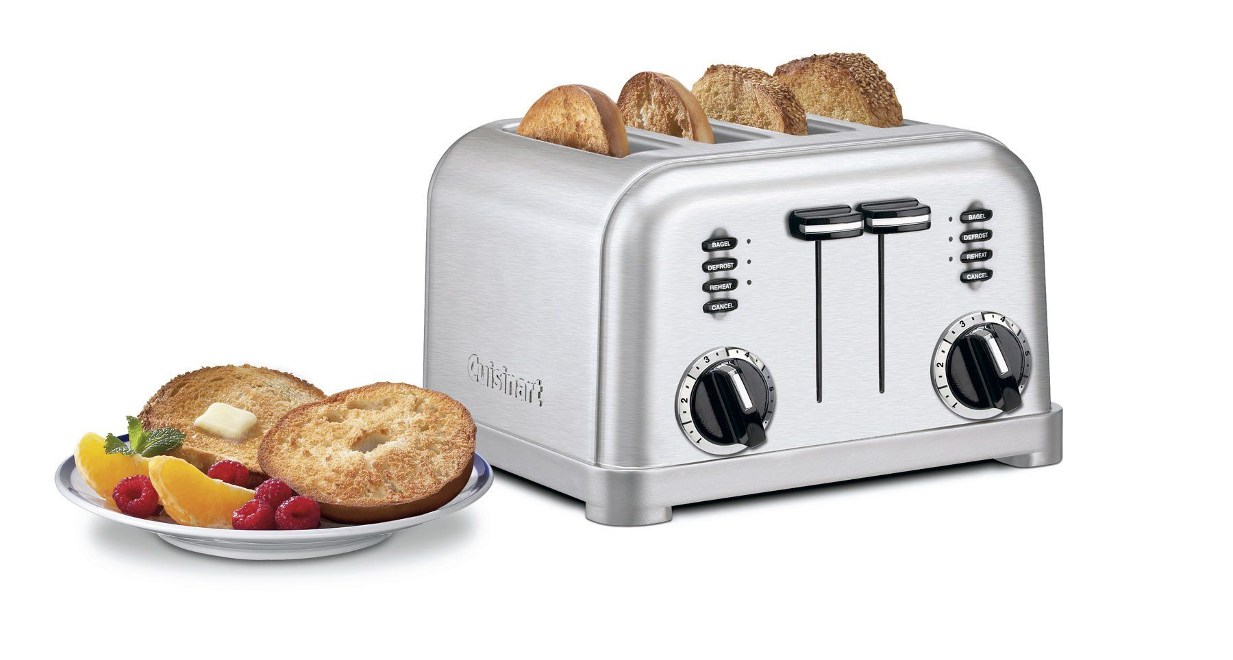 Cuisinart cpt180 metal classic 4slice toaster brushed