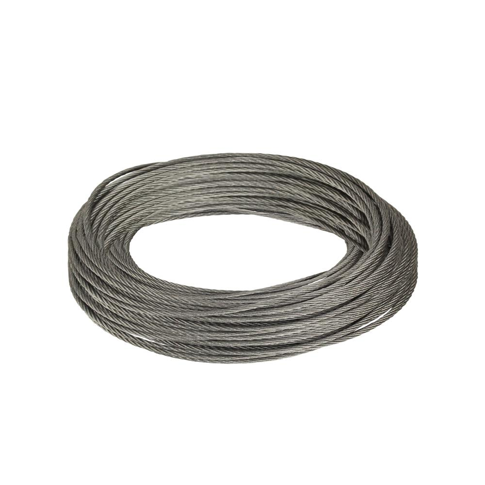 Everbilt 1 16 In X 50 Ft Galvanized Steel Uncoated Wire Rope 811072 With Images Galvanized Steel Wire Netting Zinc Plating